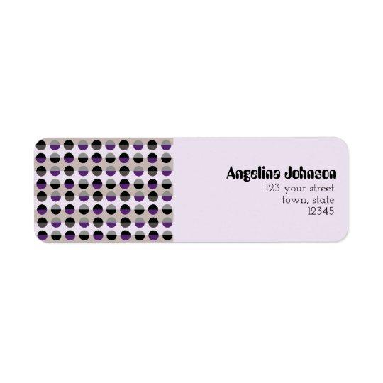 Purple Lady Chic Dots Pattern Adorable Stylish Return Address Label
