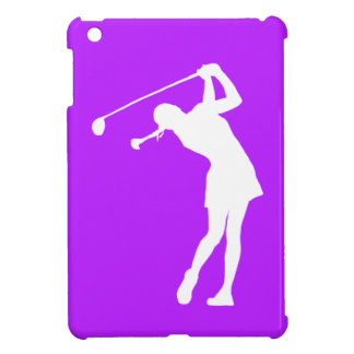 Purple Lady Golfer iPad Mini Case