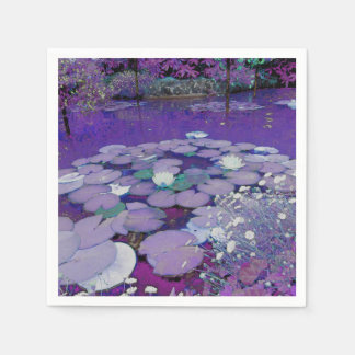 Purple Lake Dreaming Disposable Napkin