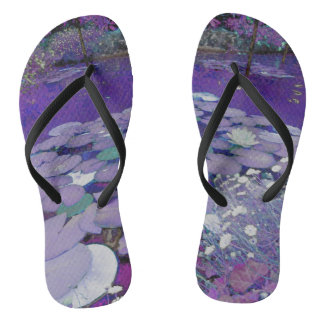 Purple Lake Dreaming Flip Flops