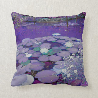 Purple Lake Dreaming Throw Pillow
