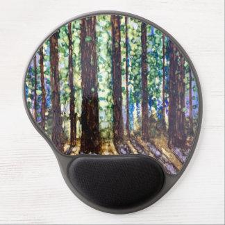 Purple Landscape -Original alcohol ink design Gel Mouse Pad
