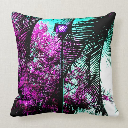 Purple Landscape Throw Pillow