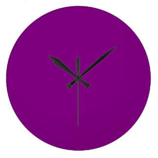 Purple Large Clock