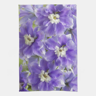Purple Larkspur Floral Kitchen Towel