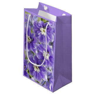Purple Larkspur Floral Small Gift Bag