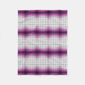 Purple Lattice Fleece Blanket