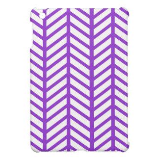 Purple Lattice Stripe Case For The iPad Mini