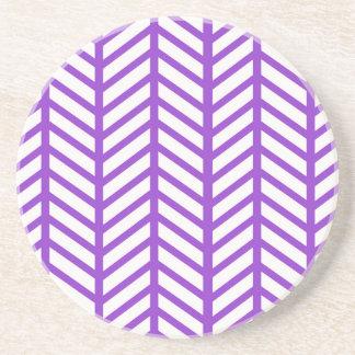 Purple Lattice Stripe Coaster
