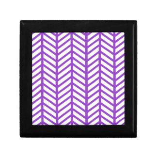 Purple Lattice Stripe Gift Box