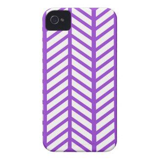 Purple Lattice Stripe iPhone 4 Case-Mate Case