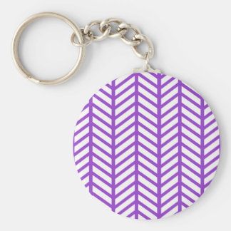 Purple Lattice Stripe Keychain