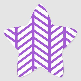 Purple Lattice Stripe Star Sticker