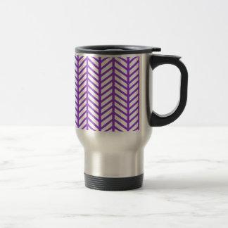 Purple Lattice Stripe Travel Mug