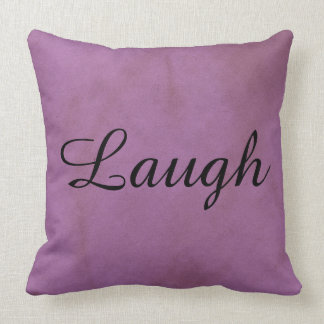 Purple Laugh Decorative Pillow