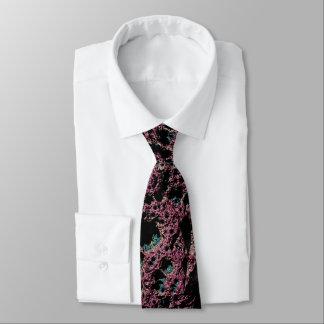 Purple Lava Fractal Tie