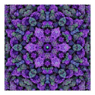 Purple Lava Kaleidoscope Poster
