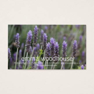 Purple Lavendar Business Card