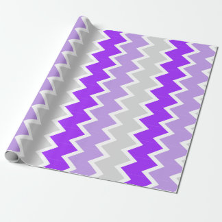 Purple, lavender, and gray chevron Wrapping paper