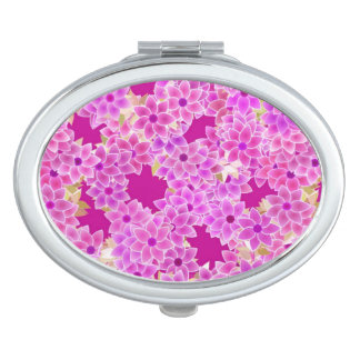 Purple, lavender and plum flowers, plum background mirror for makeup