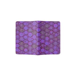 Purple Lavender Bubble Pattern Passport Holder