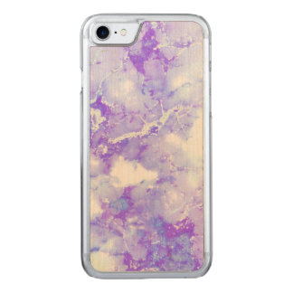 Purple Lavender Cloudy Marble Stone Carved iPhone 8/7 Case