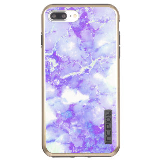 Purple Lavender Cloudy Marble Stone Incipio DualPro Shine iPhone 7 Plus Case