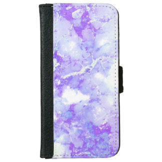 Purple Lavender Cloudy Marble Stone iPhone 6 Wallet Case