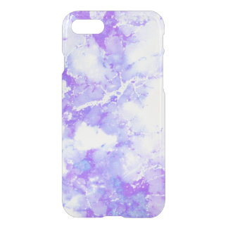 Purple Lavender Cloudy Marble Stone iPhone 8/7 Case