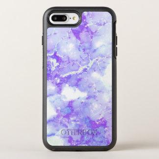 Purple Lavender Cloudy Marble Stone OtterBox Symmetry iPhone 8 Plus/7 Plus Case