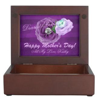 Purple & Lavender Diamond Roses Keepsake Box