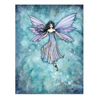 Purple Lavender Fairy Art by Molly Harrison Postcard