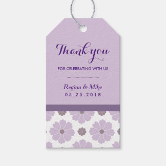 Purple Lavender Flower Pattern Thank you Gift Tags Pack Of Gift Tags