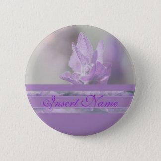 Purple lavender flower wedding | Personalize 2 Inch Round Button