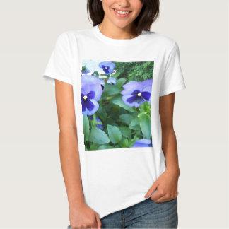Purple Lavender Garden Pansies Flowers Floral Tees