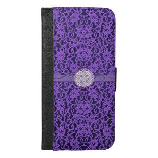 Purple Lavender Lace Celtic Knot Wallet Case