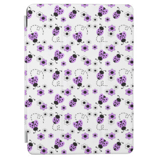 Purple Lavender Ladybug Lady Bug Floral Teen Girl iPad Air Cover