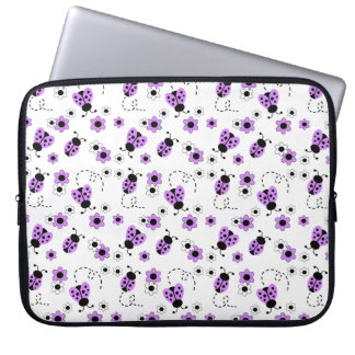 Purple Lavender Ladybug Lady Bug Floral Teen Girl Laptop Sleeve