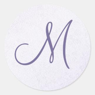 Purple Lavender Monogram Sticker
