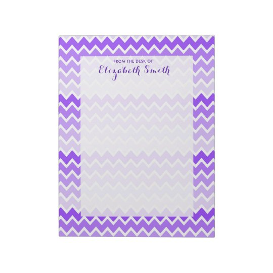 Purple Lavender Ombre Chevron Girl Stationery Notepad