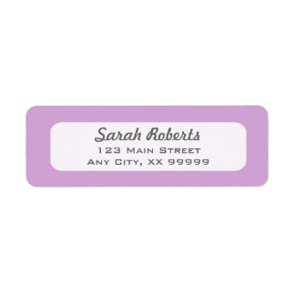 Purple Lavender Return Address Labels