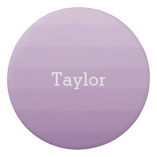 Purple Lavender Shades Horizontal Stripes Youthful Eraser