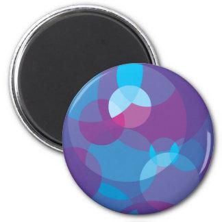 Purple Layered Dots Magnet