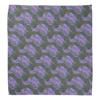 Purple Leafy Paisley Patterned Do-rag