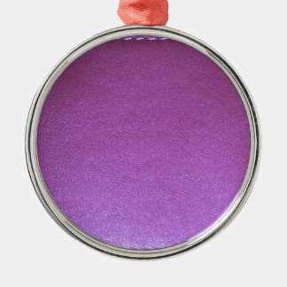 Purple Leather finish Template add TEXT n IMAGE 99 Metal Ornament