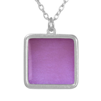 Purple Leather finish Template add TEXT n IMAGE 99 Square Pendant Necklace