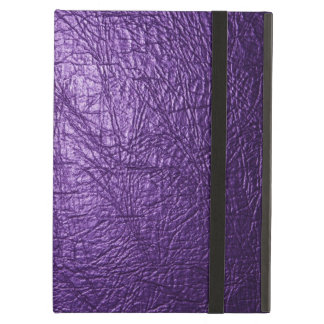 Purple leather texture iPad air case