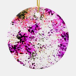 Purple Leaves Ceramic Ornament
