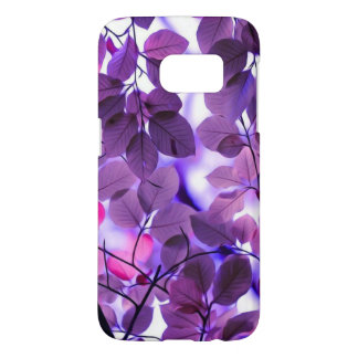 Purple leaves samsung back cover