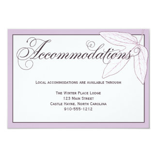 Purple Leaves Wedding Accommodations Detail Card